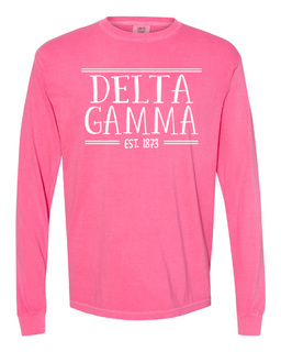 Delta Gamma Comfort Colors Established Long Sleeve T-Shirt