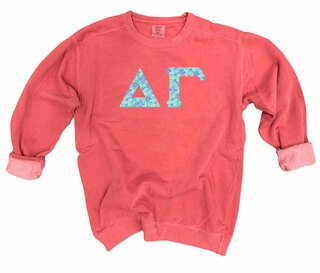 Delta Gamma Comfort Colors Lettered Crewneck Sweatshirt