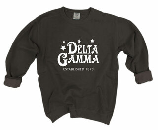 Delta Gamma Comfort Colors Old School Custom Crew