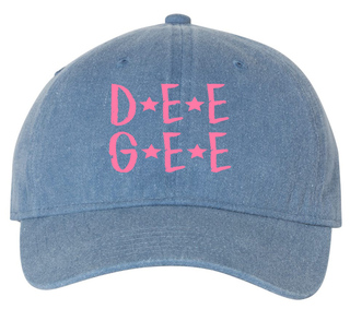 Delta Gamma Comfort Colors Starry Night Pigment Dyed Baseball Cap
