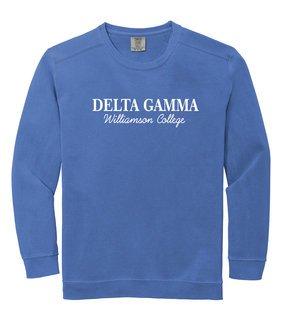 Delta Gamma Comfort Custom Colors Greek Crewneck Sweatshirt