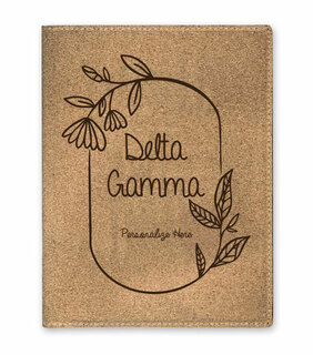 Delta Gamma Cork Portfolio with Notepad
