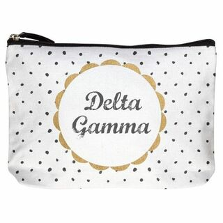 Delta Gamma Cotton Canvas Makeup Bags