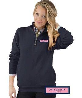 Delta Gamma Crosswind Quarter Zip Sweatshirt