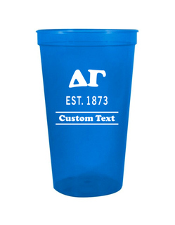 Delta Gamma Custom Greek Cooper Stadium Cup