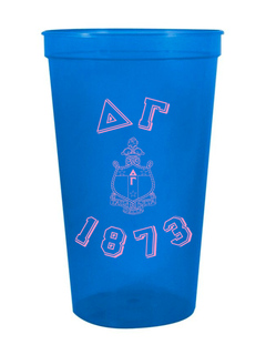 Delta Gamma Custom Greek Crest Est Stadium Cup