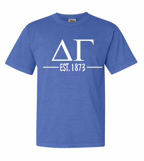 Delta Gamma Custom Greek Lettered Short Sleeve T-Shirt - Comfort Colors