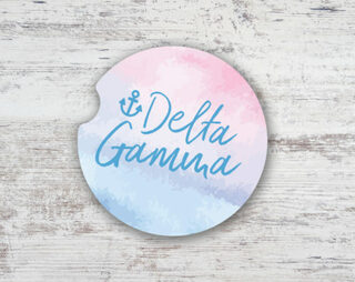 Delta Gamma Sandstone Car Cup Holder Coaster