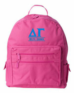 Delta Gamma Custom Text Backpack