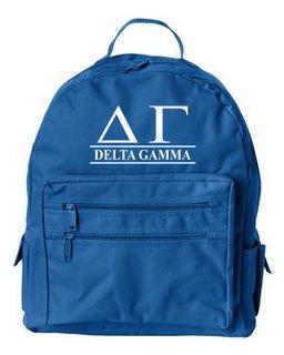 Delta Gamma Custom Text Backpack
