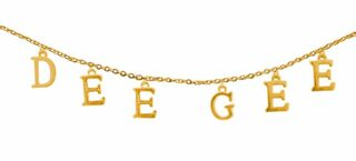 Delta Gamma - DEE GEE Sorority Letter Necklace