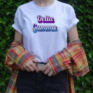 Delta Gamma Echo Tee - Comfort Colors