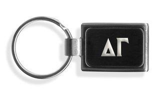 Delta Gamma Engraved Chrome Keychains