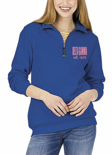 Delta Gamma Established Crosswind Quarter Zip Sweatshirt