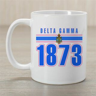 Delta Gamma Established Year Coffee Mug - Personalized!