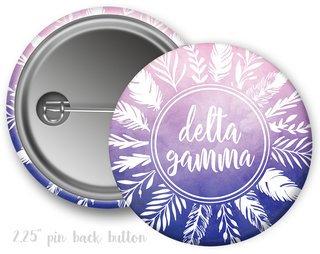Delta Gamma Feathers Button