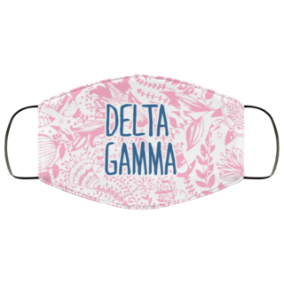 Delta Gamma Floral Face Mask