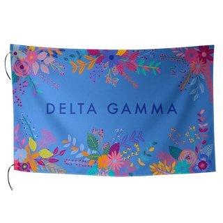 Delta Gamma Floral Flag