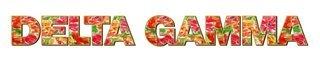 """Delta Gamma Floral Long Window Sticker - 15"""" long"""