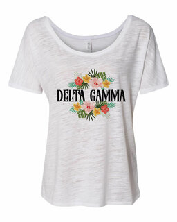 Delta Gamma Floral Tribal Slouchy Tee