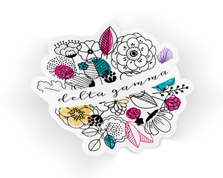 Delta Gamma Flower Sticker