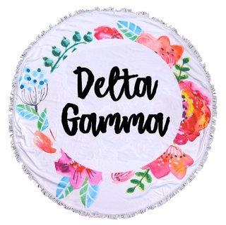 Delta Gamma Fringe Towel Blanket