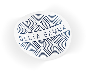 Delta Gamma Geo Scroll Sticker Sticker