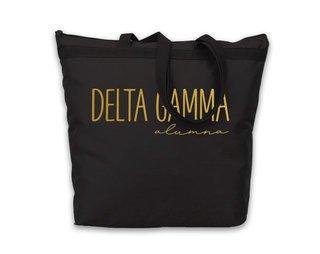 Delta Gamma Gold Foil Alumna Tote