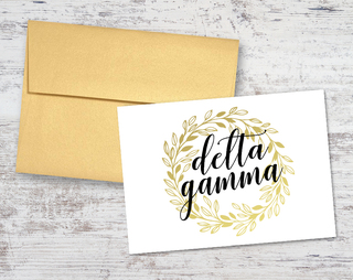 Delta Gamma Gold Wreath Notecards(6)