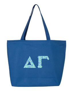 Delta Gamma Greek Letter Zipper Tote