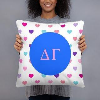 Delta Gamma Hearts Pillow