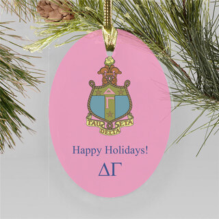 Delta Gamma Holiday Color Crest - Shield Ornament
