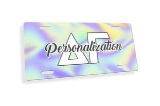 Delta Gamma Holla License Plate