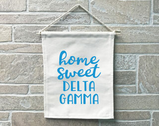 Delta Gamma Home Sweet Home Banner