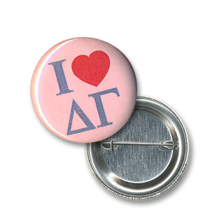 Delta Gamma I Love Mini Sorority Buttons