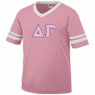 DISCOUNT-Delta Gamma Jersey With Greek Applique Letters