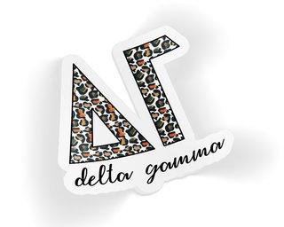 Delta Gamma Leopard Sticker