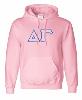 Delta Gamma Lettered Greek Hoodie- MADE FAST!