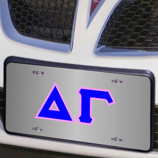 Delta Gamma Lettered License Cover