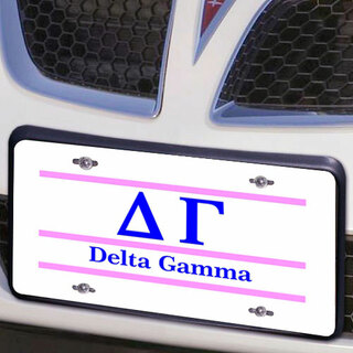 Delta Gamma Lettered Lines License Cover