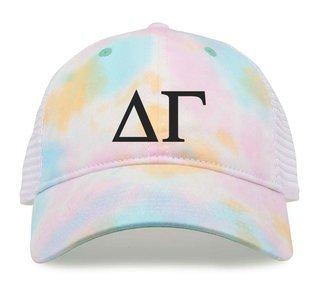 Delta Gamma Lettered Rainbow Cap