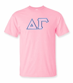 Delta Gamma Lettered T-shirt - MADE FAST!