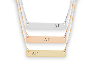 Delta Gamma Letters Bar Necklace