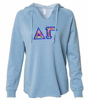 Delta Gamma Lightweight California Wavewash Hooded Pullover Sweatshirt