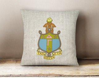 Delta Gamma Linen Crest - Shield Pillow