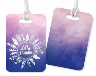 Delta Gamma Feathers Luggage Tags