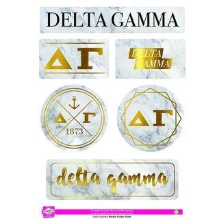 Delta Gamma Marble Sticker Sheet