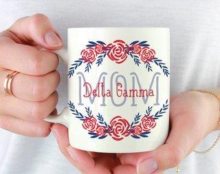 Delta Gamma Mom Floral Mug