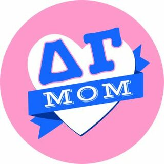 Delta Gamma Mom Round Decals