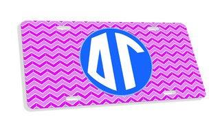 Delta Gamma Monogram License Plate